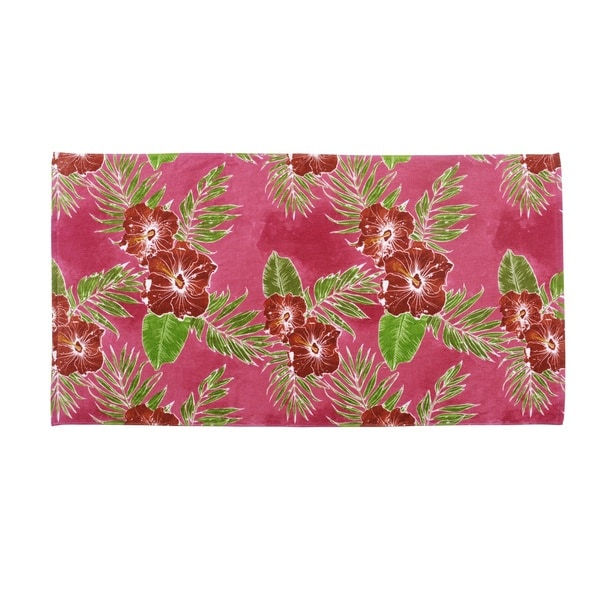 Hawaiian Tropic Floral Cotton Beach Towel