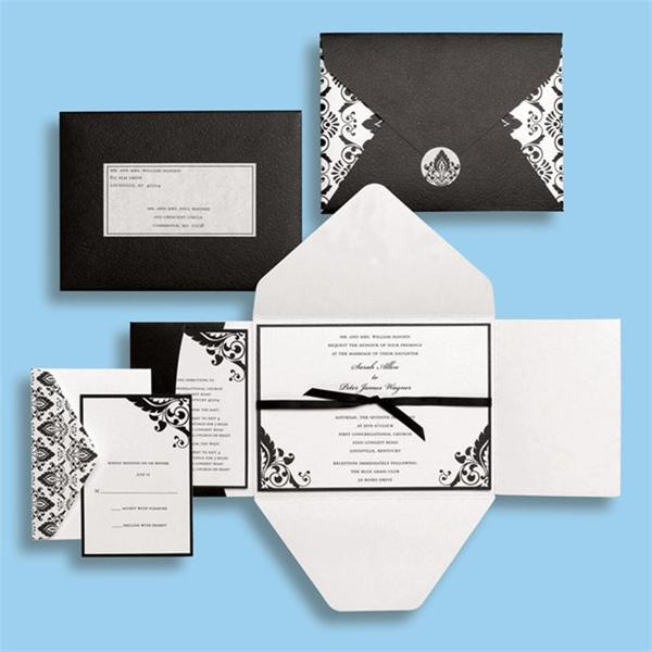 Brides Black and White Premium Invitation Kit (Case of 30)