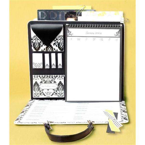Brides Black and White File Folder Organizer