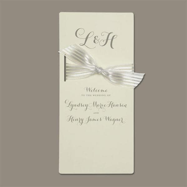 Brides Ivory Program Paper (Pack of 40)