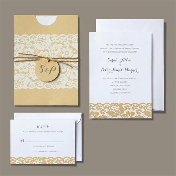 Brides Rustic Chic Invitation Kit 30 count