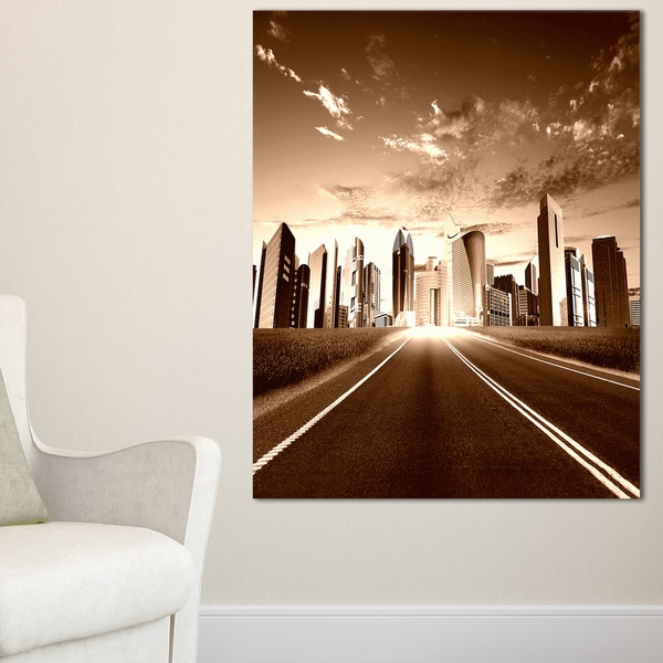 Modern City and Road - Cityscape Canvas print