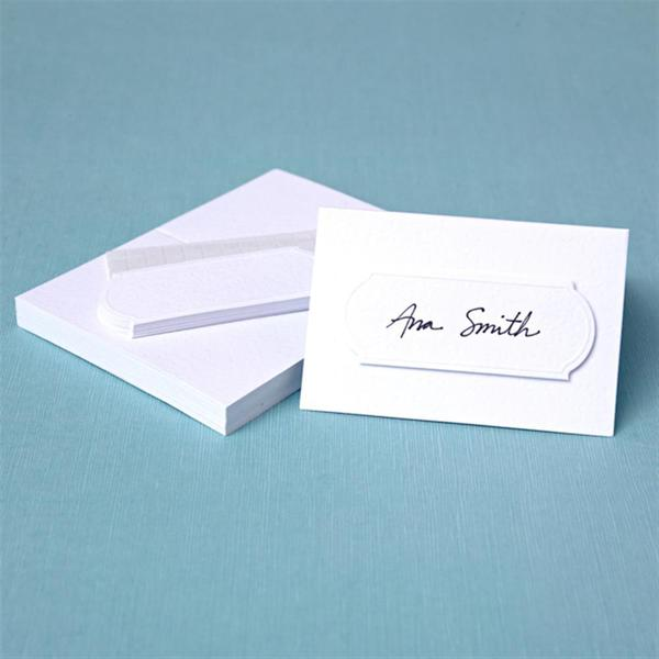 Brides 40-count White Embossed Place Cards