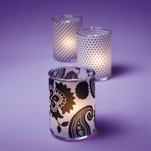 Brides Black and White Votive Wrap (Pack of 12)