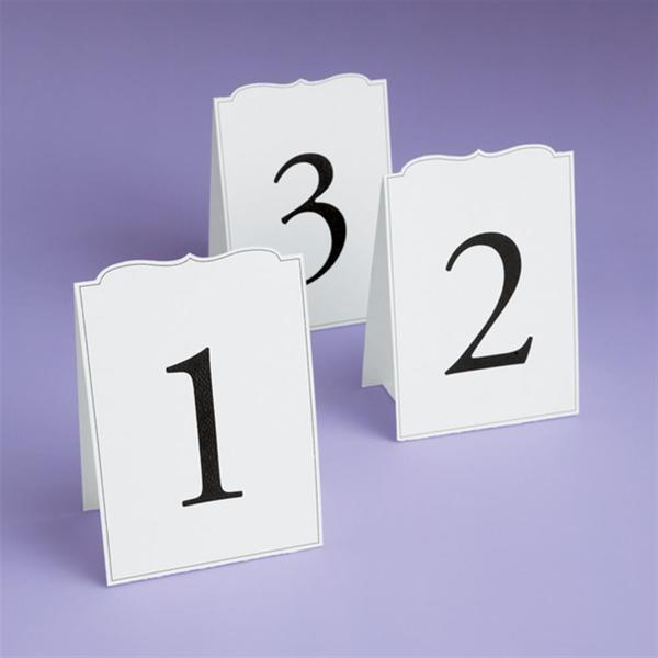 Brides Ornate 1-12 Table Number Cards