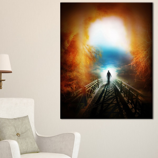 Life after Death Large Tunnel - Modern Landscape Wall Art Canvas