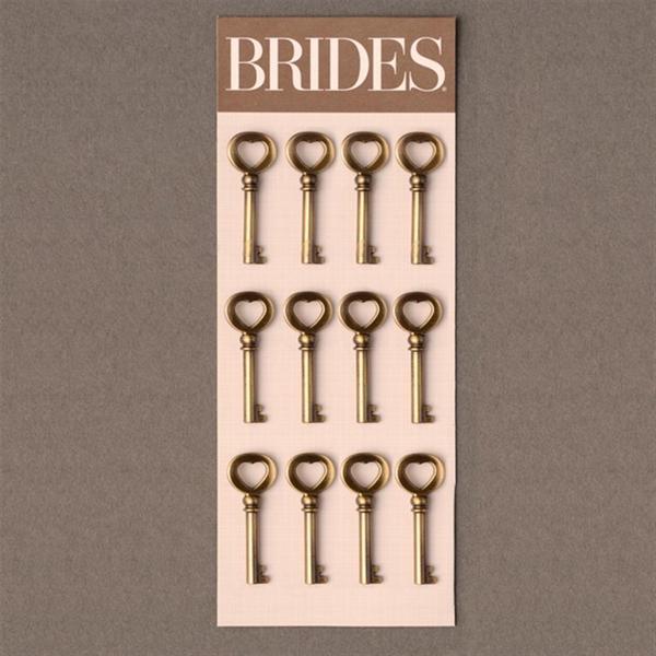 Brides Antique Heart Keys (Case of 12)