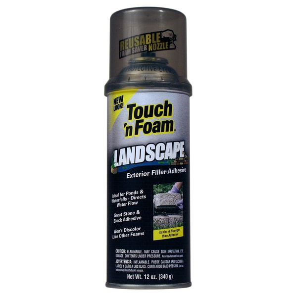 Touch n Foam 4001141212 12 Oz Black Touch 'N Foam Exterior Filler Adhesive