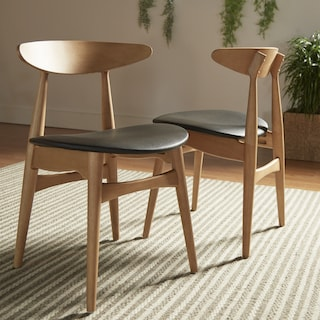 Norwegian Danish Tapered Dining Chairs Set Of 2 By I