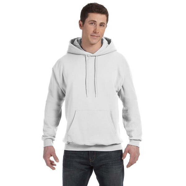Men's Comfortblend Ecosmart 50/50 White Pullover Hood (XL) 20074443