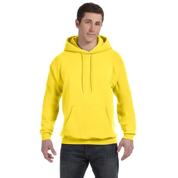 Men's Comfortblend Ecosmart 50/50 Yellow Pullover Hood (XL) 20074450