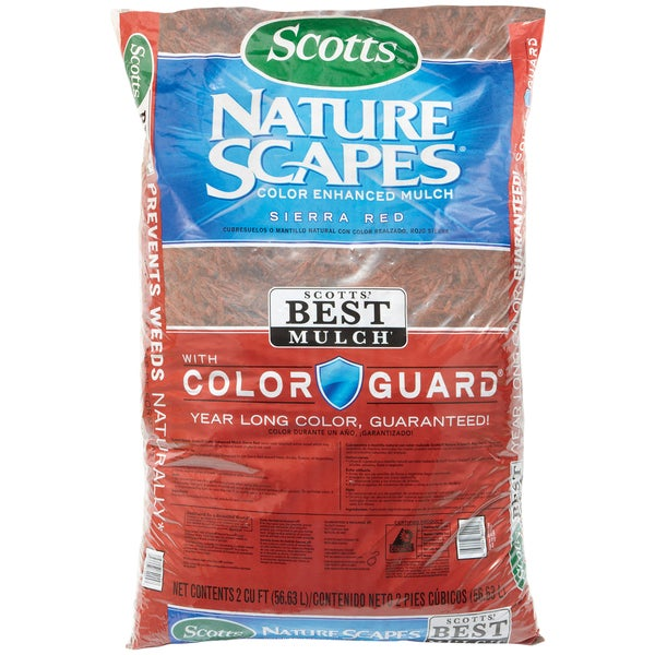 Scott feets 88402440 2 Cu Ft Sierra Red Nature Scapes Color Enhanced Mulch 20074519