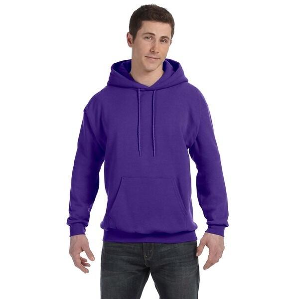 Men's Comfortblend Ecosmart 50/50 Purple Pullover Hood 20074521