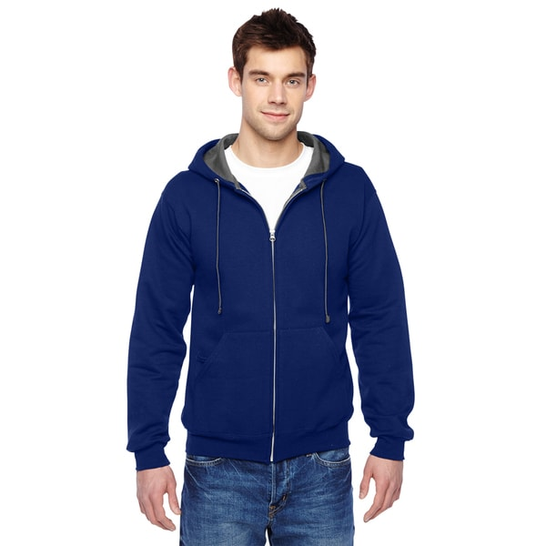Men's Admiral Blue Sofspun Full-Zip Hooded Sweatshirt