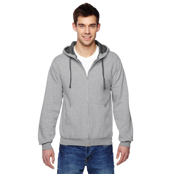 Men's Sofspun Full-Zip Hooded Sweatshirt Athletic Heather Pullover Hood