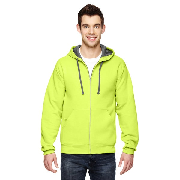 Men's Sofspun Full-Zip Hooded Citrus Green Sweatshirt