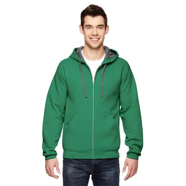 Men's Sofspun Full-Zip Hooded Clover Sweatshirt (XL)