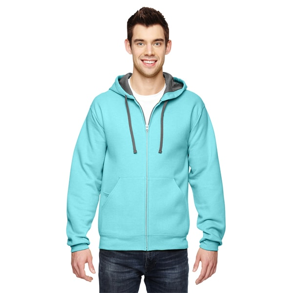 Men's Sofspun Full-Zip Hooded Scuba Blue Sweatshirt
