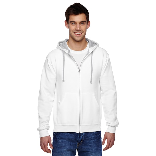Men's Sofspun Full-Zip Hooded White Sweatshirt 20074776