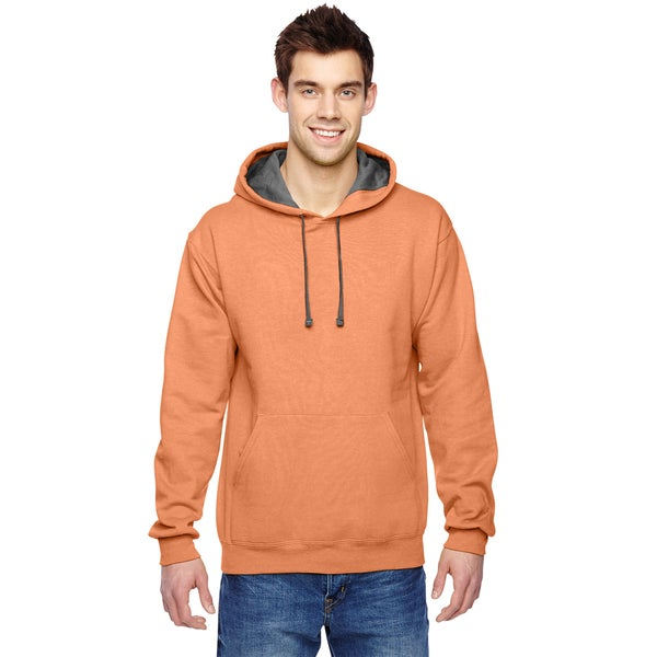 Men's Sofspun Hooded Orange Sherbet Sweatshirt