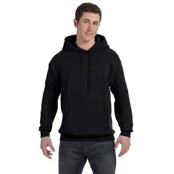 Men's Comfortblend Ecosmart 50/50 Black Pullover Hood 20075009