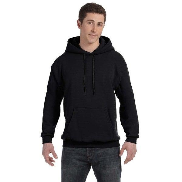 Men's Comfortblend Ecosmart 50/50 Black Pullover Hood (XL) 20075018