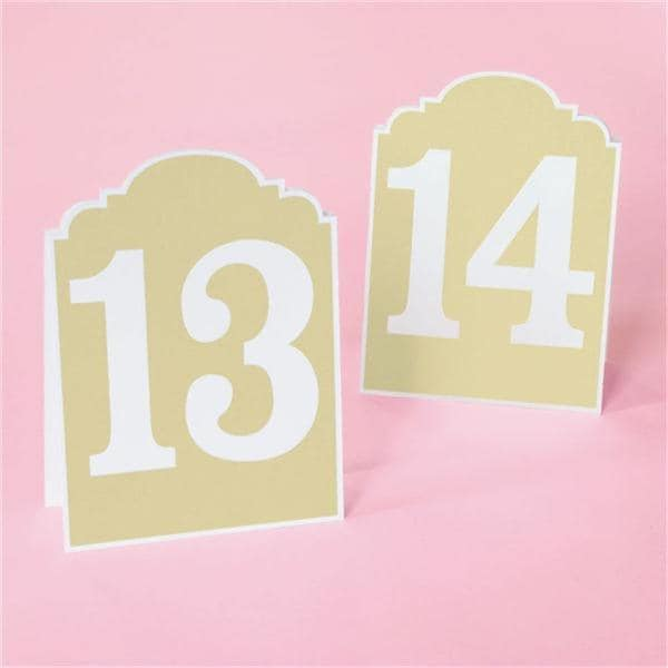 Brides White/Brown Rustic Chic 13-24 Table Numbers