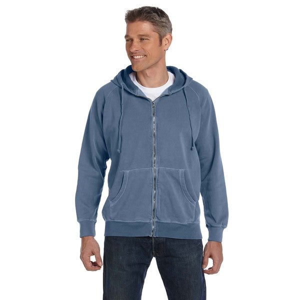 Men's Blue Jean Garment-Dyed Full-Zip Hood