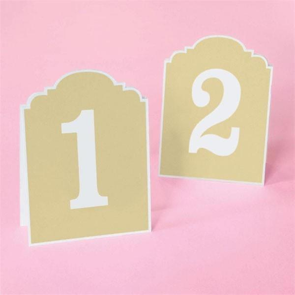 Brides Rustic Chic Table Numbers 1-12