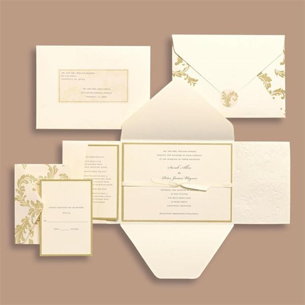 Brides Ivory Swirl 30-count Invitation Kit