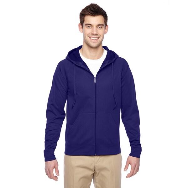 Men's Sport Tech Fleece Full-Zip Deep Purple Hood