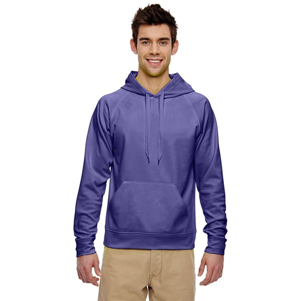 Men's Sport Tech Fleece Deep Purple Pullover Hood