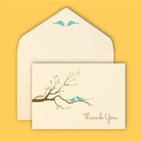 Brides Love Birds 40-count Thank You Card Set