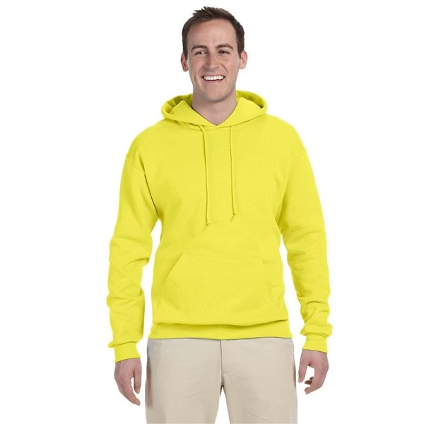 Men's 50/50 Nublend Fleece Neon Yellow Pullover Hood (XL)()