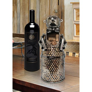 Somellier Silver Metal Cork Holders (Set of 2)