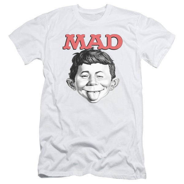 Mad/U Mad Short Sleeve Adult T-Shirt 30/1 in White