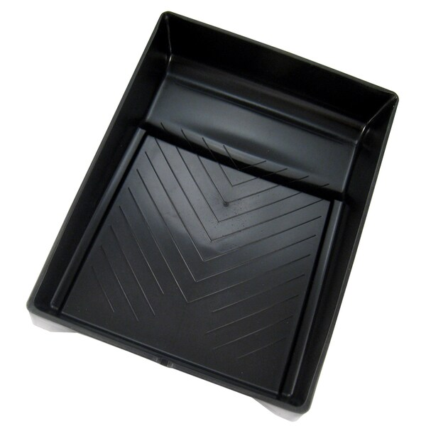 "Gam PT09027 9"" Black Plastic Paint Tray 20076588"