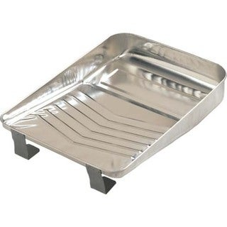 "Gam PT09030 9"" Bright Metal Paint Tray 20076620"