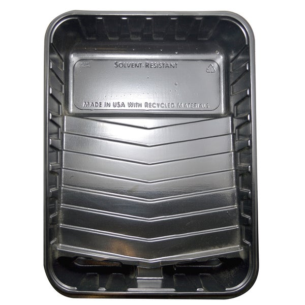 """Quali Tech Manufacturing PET-100D 9"""" Black Plastic Deep Paint Tray 2-count"""