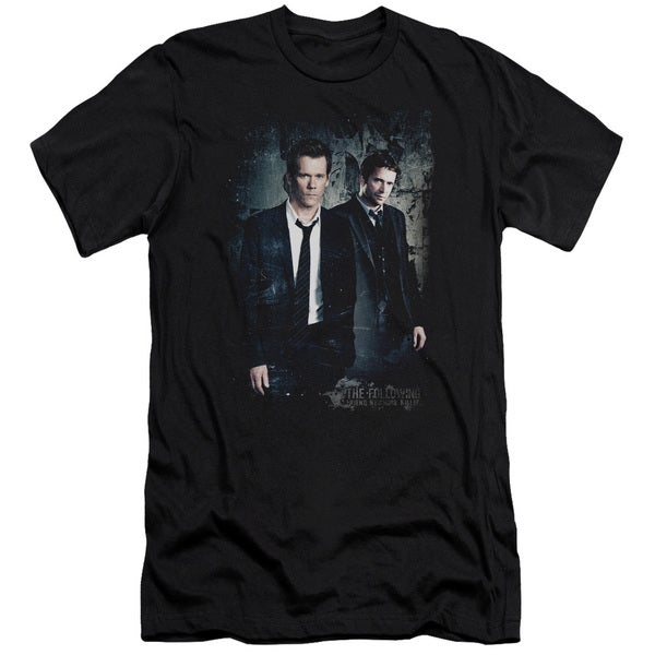 Following/Good Vs Evil Short Sleeve Adult T-Shirt 30/1 in Black