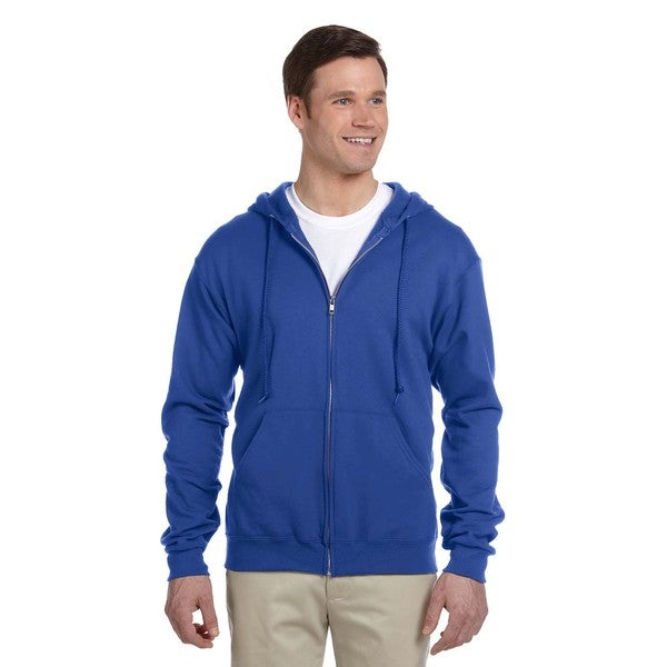 Men's 50/50 Nublend Fleece Full-Zip Royal Hood (XL) 20077610