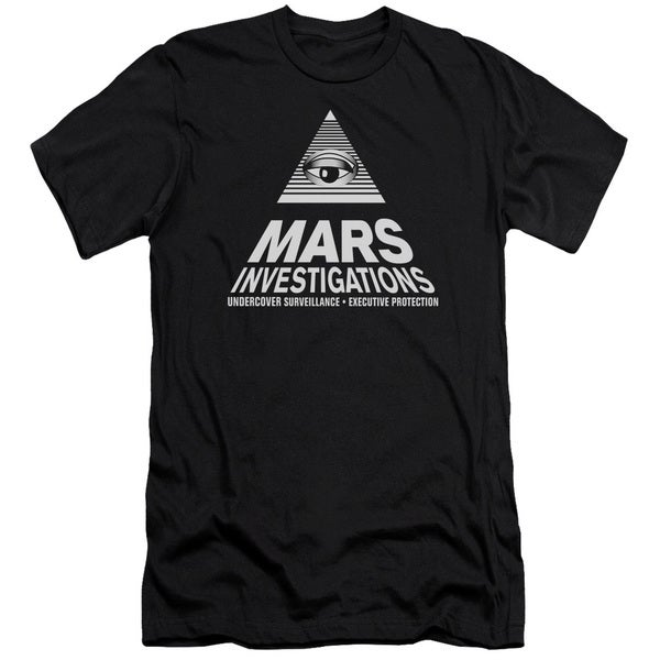 Veronica Mars/Marts Investigations Short Sleeve Adult T-Shirt 30/1 in Black