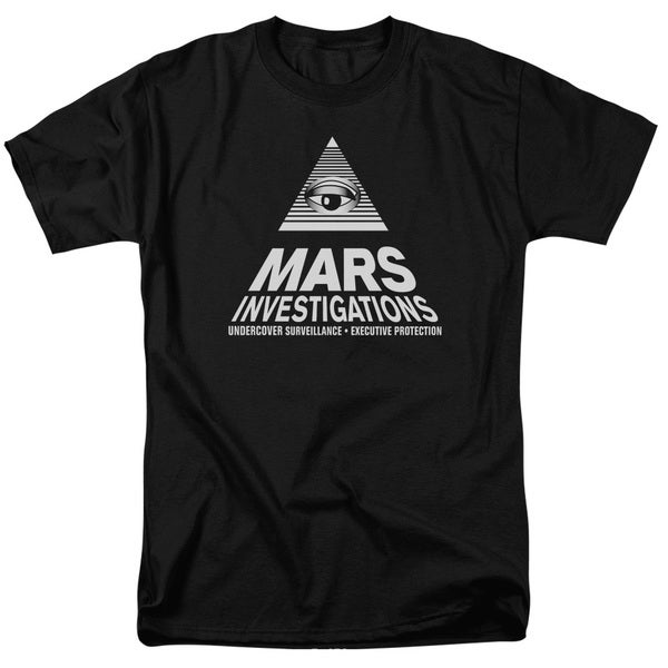Veronica Mars/Marts Investigations Short Sleeve Adult T-Shirt 18/1 in Black