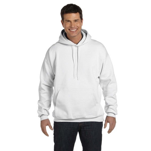 Men's Ultimate Cotton 90/10 Pullover White Hood (XL)