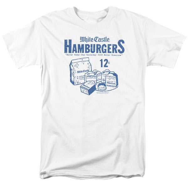 White Castle/12 Cents Short Sleeve Adult T-Shirt 18/1 in White