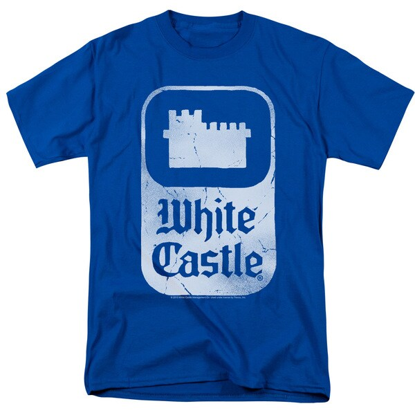 White Castle/Classic Logo Short Sleeve Adult T-Shirt 18/1 in Royal Blue