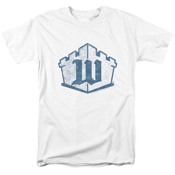White Castle/Monogram Short Sleeve Adult T-Shirt 18/1 in White