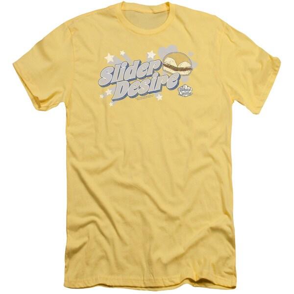 White Castle/Slider Desire Short Sleeve Adult T-Shirt 30/1 in Banana
