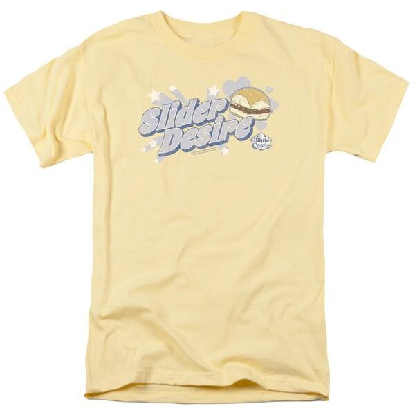 White Castle/Slider Desire Short Sleeve Adult T-Shirt 18/1 in Banana
