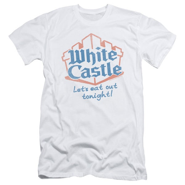 White Castle/Lets Eat Short Sleeve Adult T-Shirt 30/1 in White
